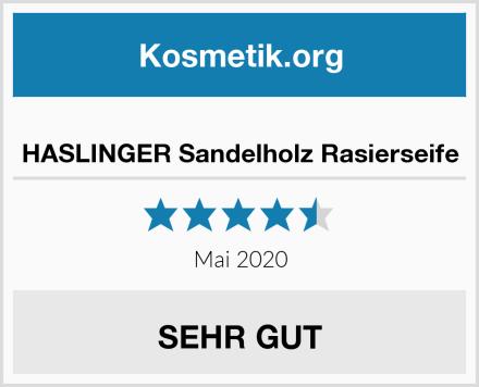 HASLINGER Sandelholz Rasierseife Test
