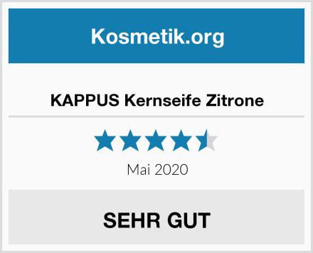 KAPPUS Kernseife Zitrone Test