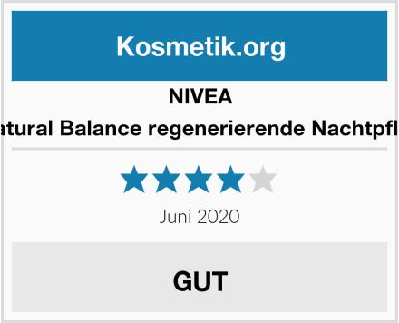 NIVEA Natural Balance regenerierende Nachtpfleg Test
