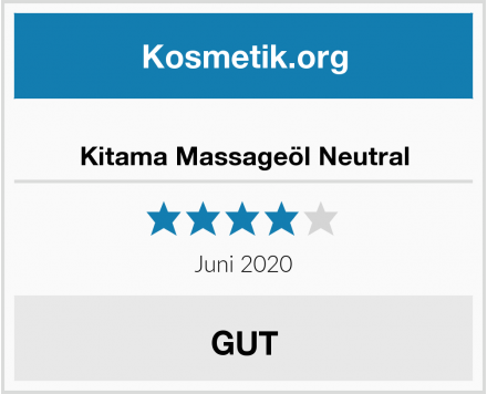 Kitama Massageöl Neutral Test
