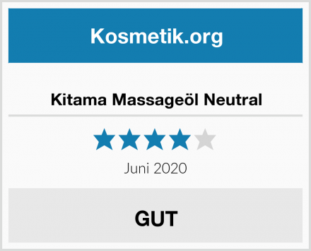 Kitama Massageöl Neutral Test