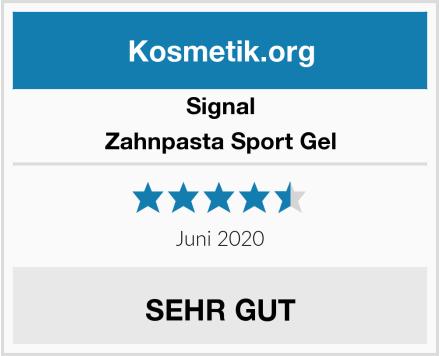 Signal Zahnpasta Sport Gel Test