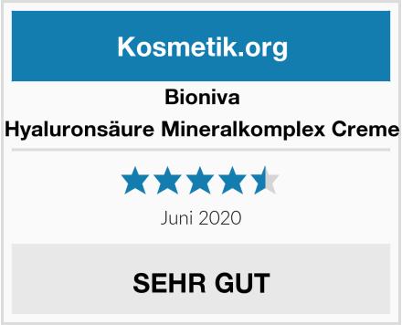 Bioniva Hyaluronsäure Mineralkomplex Creme Test