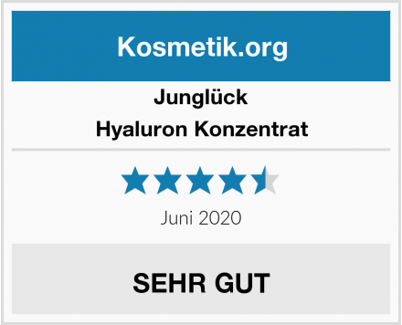 Junglück Hyaluron Konzentrat Test
