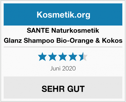 SANTE Naturkosmetik Glanz Shampoo Bio-Orange & Kokos Test