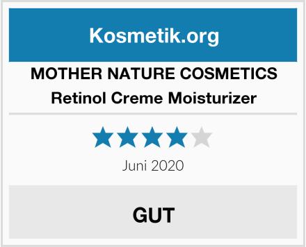 MOTHER NATURE COSMETICS Retinol Creme Moisturizer Test