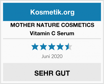 MOTHER NATURE COSMETICS Vitamin C Serum Test