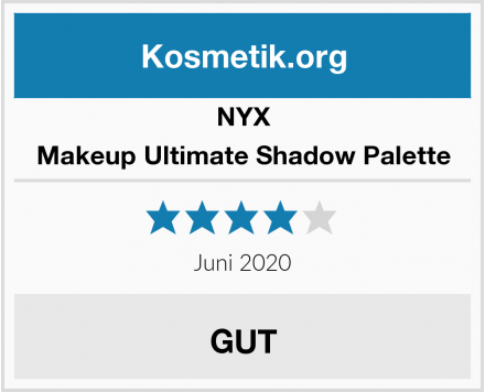 NYX Makeup Ultimate Shadow Palette Test