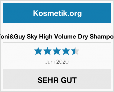 Toni&Guy Sky High Volume Dry Shampoo Test