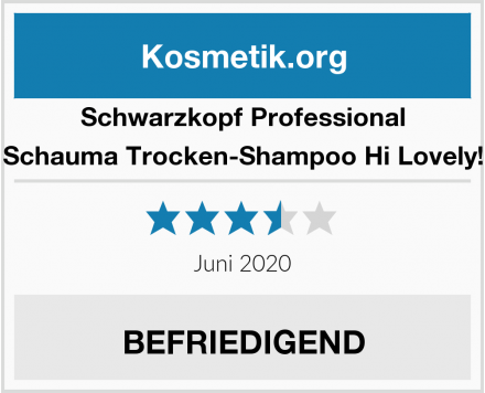 Schwarzkopf Professional Schauma Trocken-Shampoo Hi Lovely! Test