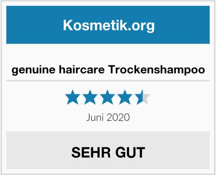 genuine haircare Trockenshampoo Test