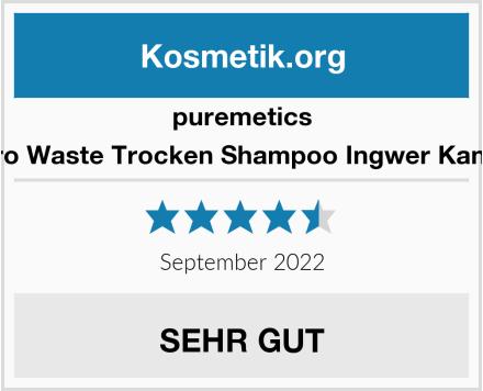 puremetics Zero Waste Trocken Shampoo Ingwer Kandis Test