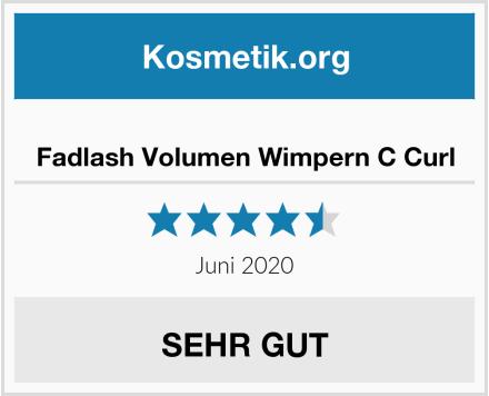 Fadlash Volumen Wimpern C Curl Test