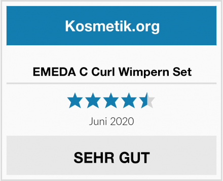 EMEDA C Curl Wimpern Set Test