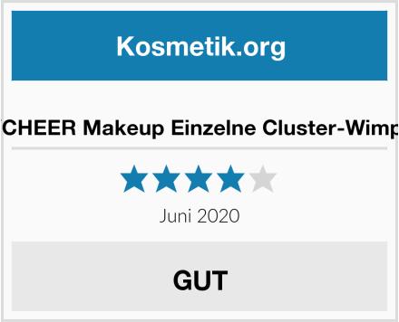 ICYCHEER Makeup Einzelne Cluster-Wimpern Test
