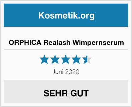 ORPHICA Realash Wimpernserum Test