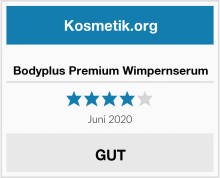 Bodyplus Premium Wimpernserum Test