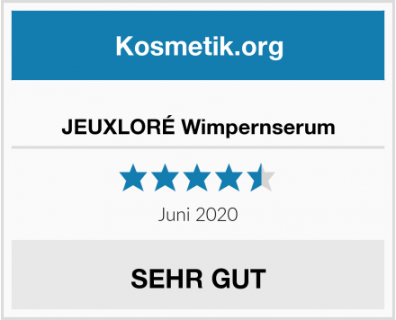JEUXLORÉ Wimpernserum Test