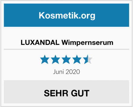 LUXANDAL Wimpernserum Test