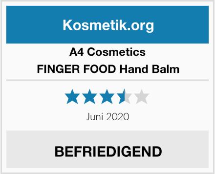 A4 Cosmetics FINGER FOOD Hand Balm Test