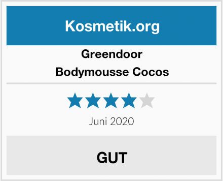 Greendoor Bodymousse Cocos Test