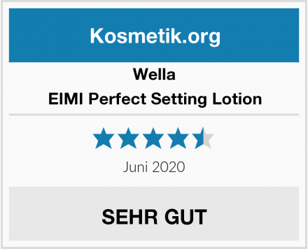 Wella EIMI Perfect Setting Lotion Test