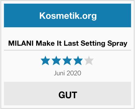 MILANI Make It Last Setting Spray Test