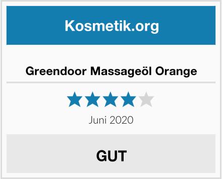Greendoor Massageöl Orange Test