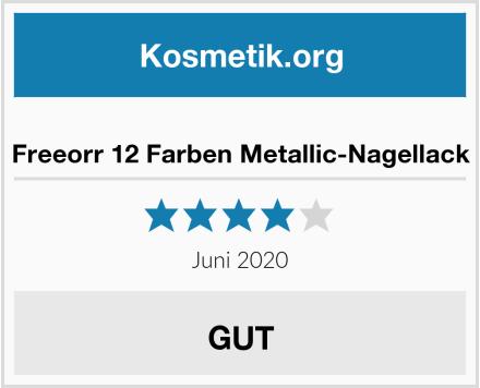 Freeorr 12 Farben Metallic-Nagellack Test