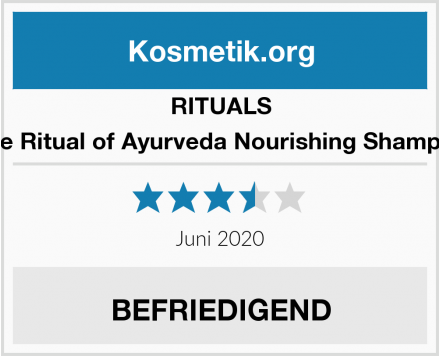 RITUALS The Ritual of Ayurveda Nourishing Shampoo Test