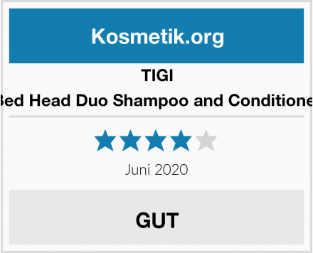 TIGI Bed Head Duo Shampoo and Conditioner Test