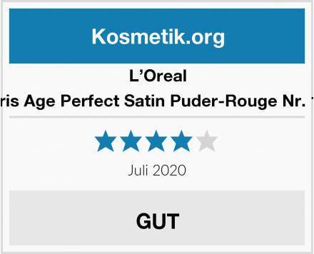 L'Oreal Paris Age Perfect Satin Puder-Rouge Nr. 107 Test