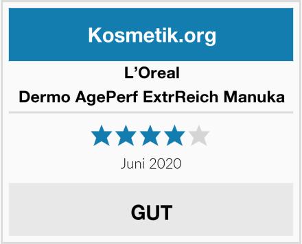 L'Oreal Dermo AgePerf ExtrReich Manuka Test