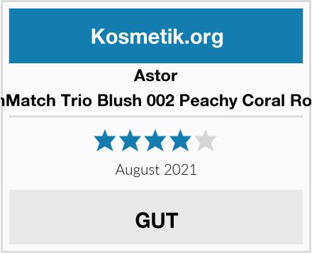 Astor SkinMatch Trio Blush 002 Peachy Coral Rouge Test
