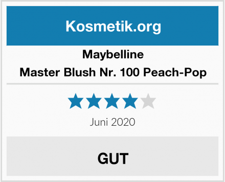 Maybelline Master Blush Nr. 100 Peach-Pop Test