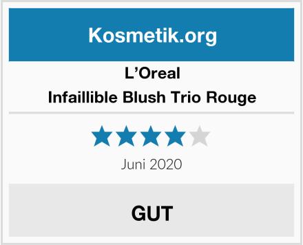 L'Oreal Infaillible Blush Trio Rouge Test