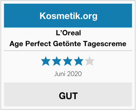 L'Oreal Age Perfect Getönte Tagescreme Test