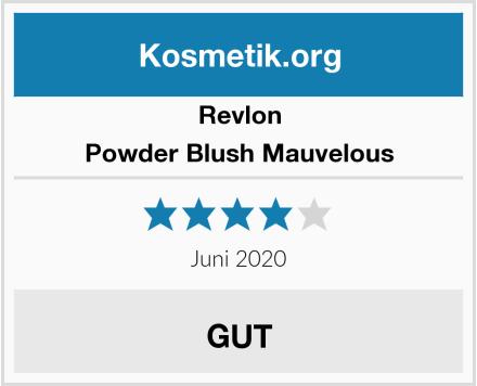 Revlon Powder Blush Mauvelous Test