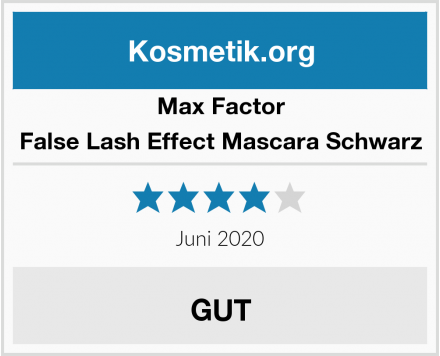 Max Factor False Lash Effect Mascara Schwarz Test