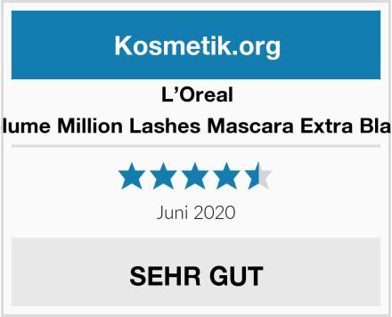 L'Oreal Volume Million Lashes Mascara Extra Black Test