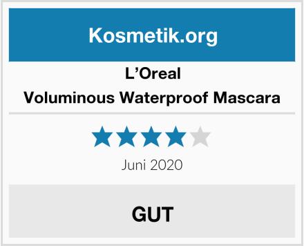 L'Oreal Voluminous Waterproof Mascara Test