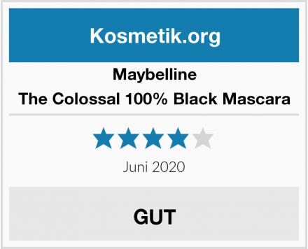 Maybelline The Colossal 100% Black Mascara Test