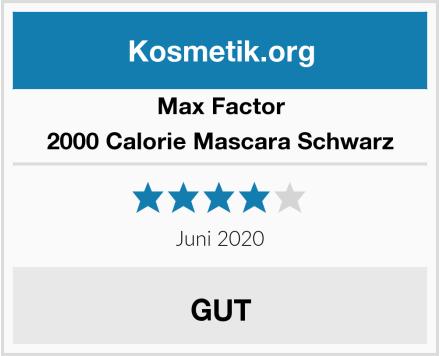 Max Factor 2000 Calorie Mascara Schwarz Test