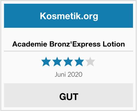 Academie Bronz'Express Lotion Test