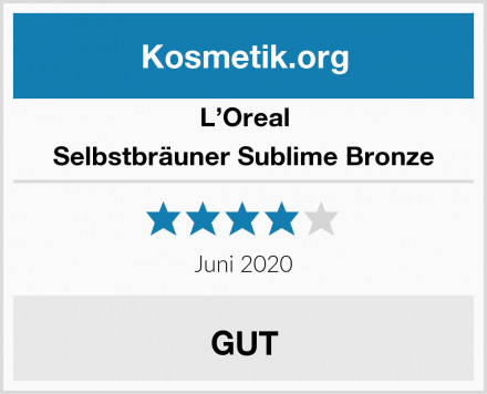L'Oreal Selbstbräuner Sublime Bronze Test