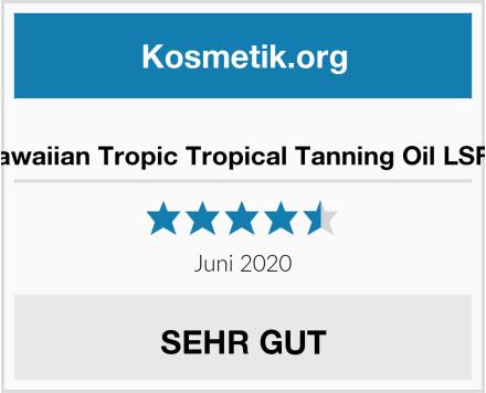 Hawaiian Tropic Tropical Tanning Oil LSF 0 Test