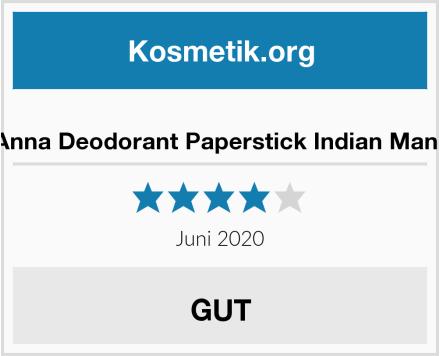 Ben&Anna Deodorant Paperstick Indian Mandarine Test