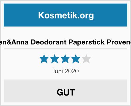 Ben&Anna Deodorant Paperstick Provence Test