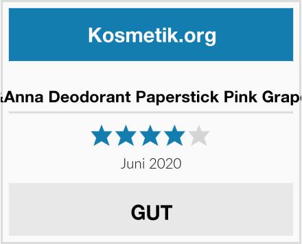 Ben&Anna Deodorant Paperstick Pink Grapefruit Test