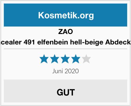 ZAO Concealer 491 elfenbein hell-beige Abdeckstift Test